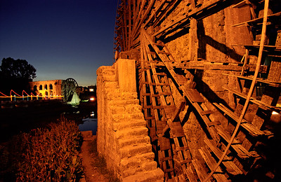 Wooden Water-wheel (Noria), Hama