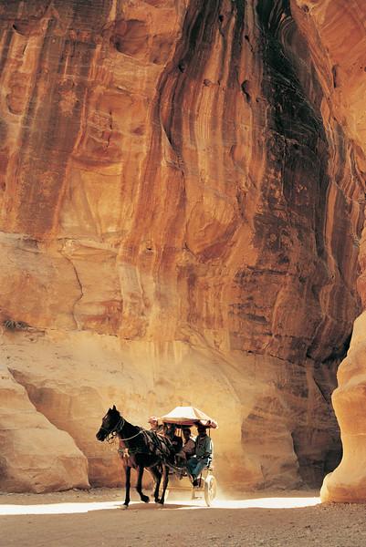 Cart in Al-Siq Gorge, Petra