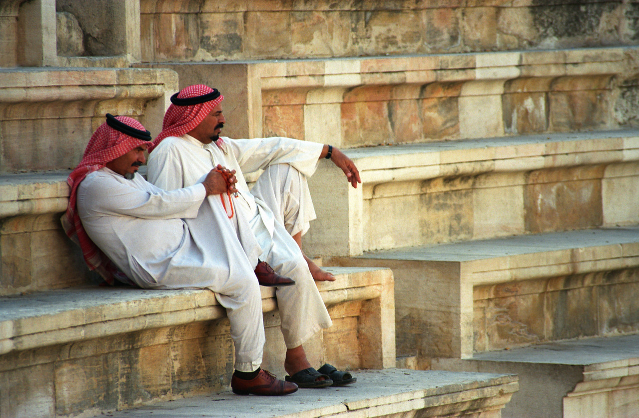 Two Men in Thobe, Roman Theatre, Amman (Jordan)