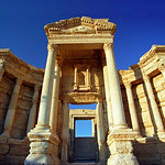 Ancient Theatre in Ruined City of Palmyra, Syria
