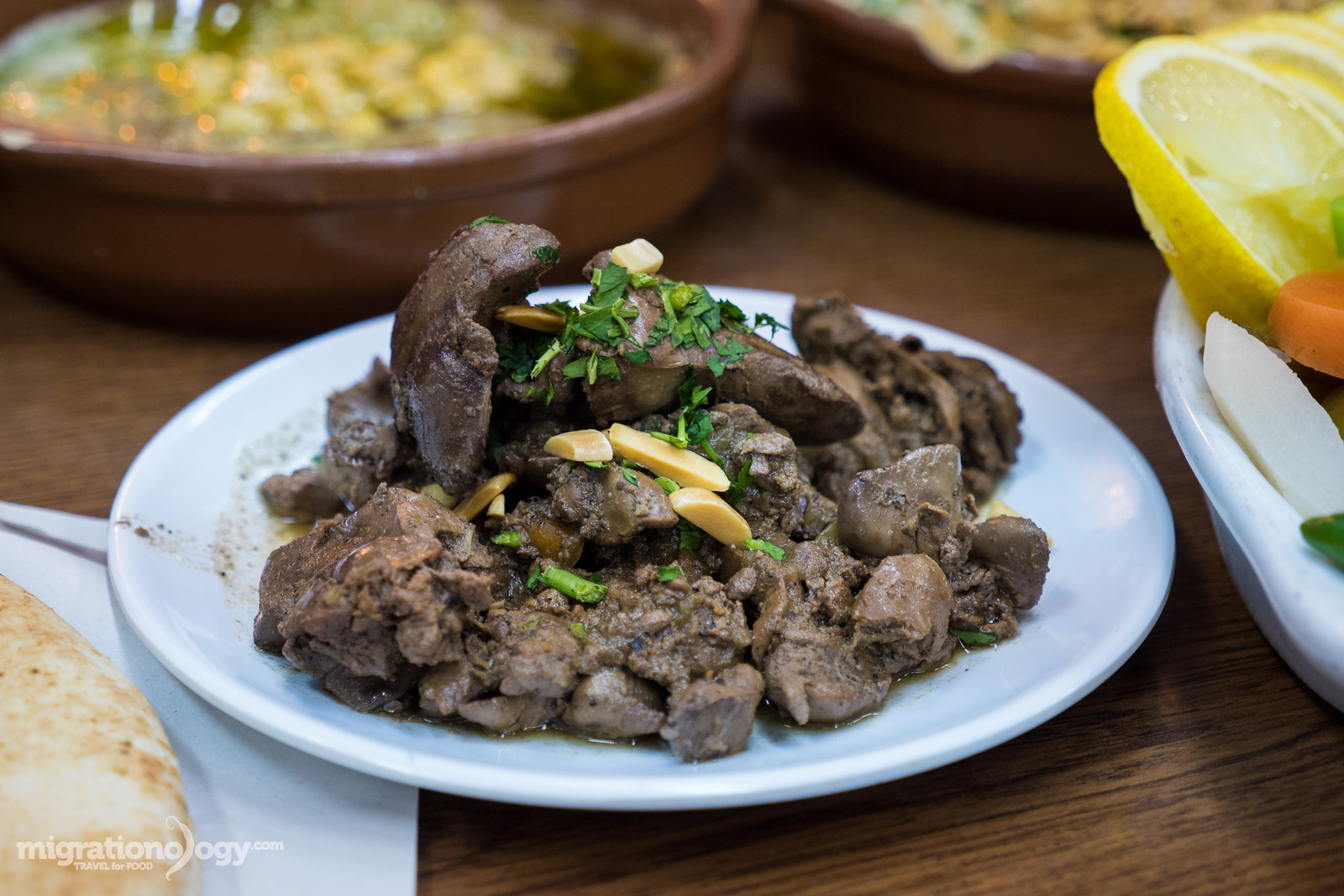 chicken liver in Jordan