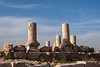 Ruins of the Citadel, Jebel lal-Qalaa, Qala hill, columns of the roman Hercules temple
