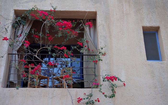 A balcony room at the Feynan Ecolodge, Jordan.
