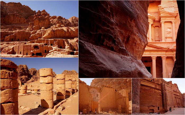 Visiting the archaeological sites in Petra, Jordan.