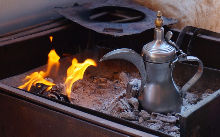 Coffee time, the Bedouin way.