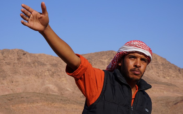 Our Bedouin guide.