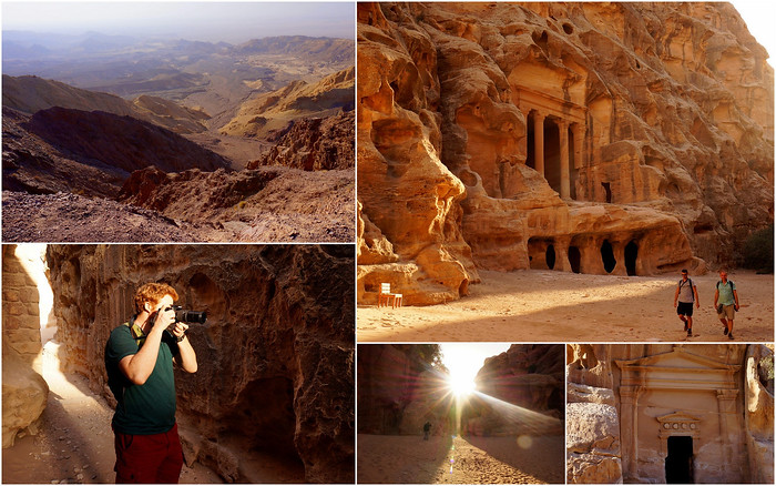 Visiting Little Petra in Jordan.