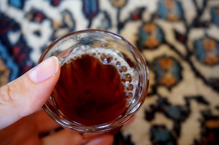 A cup of tea in a Bedouin tent