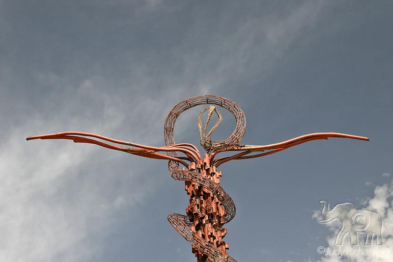 The Brazen Serpent Sculpture top