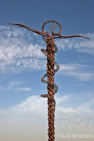 The Brazen Serpent Sculpture created by Italian artist Giovanni Fantoni
