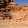 Amphitheatre carved into the rock by the Nabateans in the 1st century CE. As Jordan was already under Roman rule, the amphitheatre is of Roman design, Petra