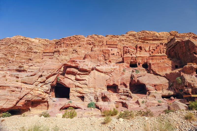 Caves at Petra, Jordan
