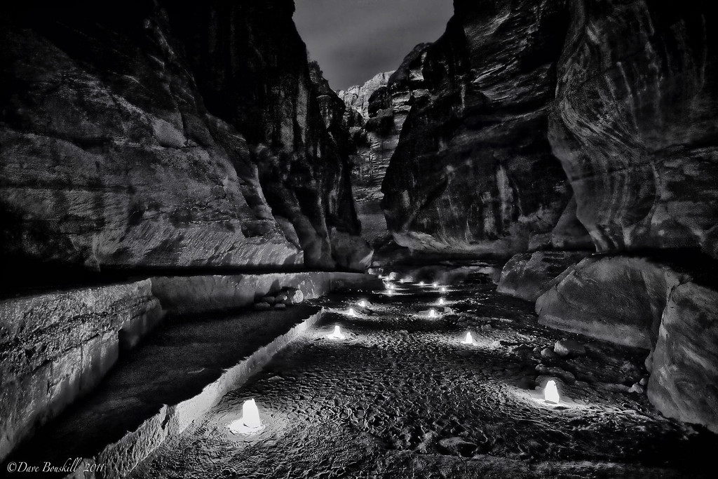 Petra-by-night-Black-&-White-jordan