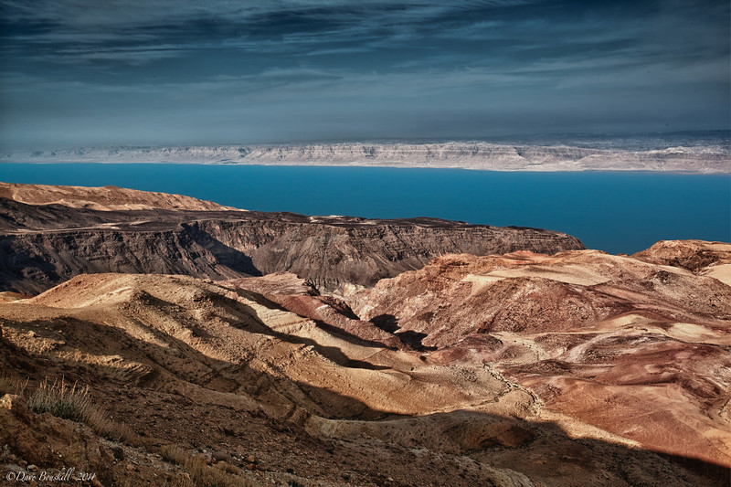 banks of the dead sea in Jordan