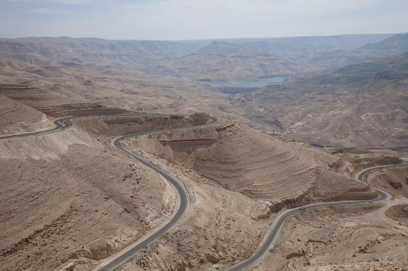 Wadi al Mujib bij de Mujib Dam