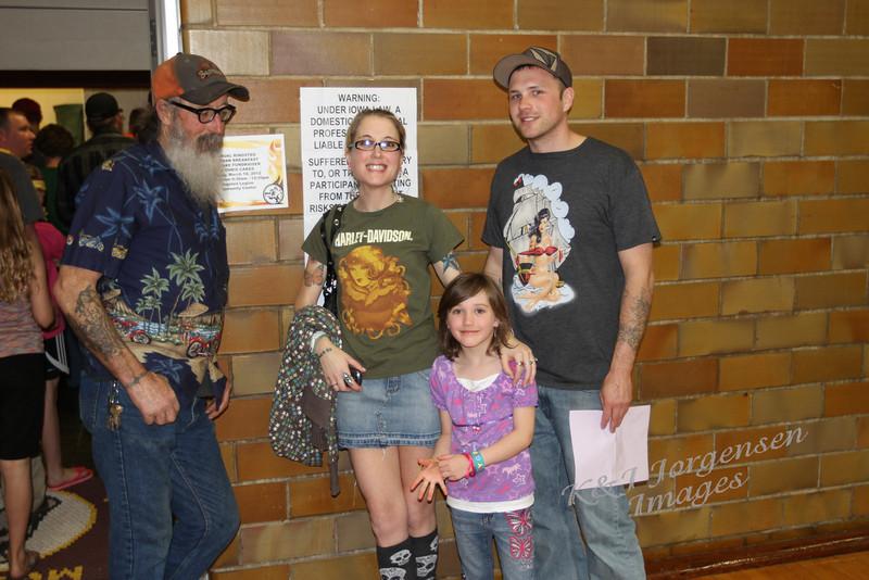 Morris Jorgensen, daughter Sarah and her family.
