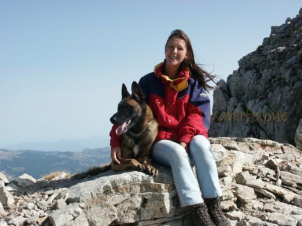 José and Lex, Mt Vardousia Greece 03-11-2003