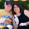 Lowell boxing legend Mickey Ward and Celeste Corcoran a Boston bombing survivor where two of the celebrate scoopers at the Joseph Middlemiss Big Heart Foundation's 4th annual Celebrity Scoop Fest at Shaw Farm in Dracut on Wednesday, June 21, 2017. SUN/JOHN LOVE