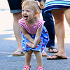 Kenleigh Fallier, 1, from Chelmsford dances to the music at the Joseph Middlemiss Big Heart Foundation's 4th annual Celebrity Scoop Fest at Shaw Farm in Dracut on Wednesday, June 21, 2017. SUN/JOHN LOVE