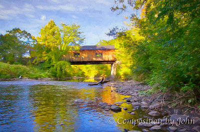 covered bridge near Thetford VT