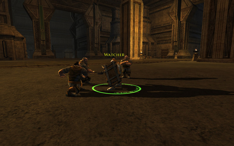 Oh no!  The watcher has turned into a dwarf!  Attack!