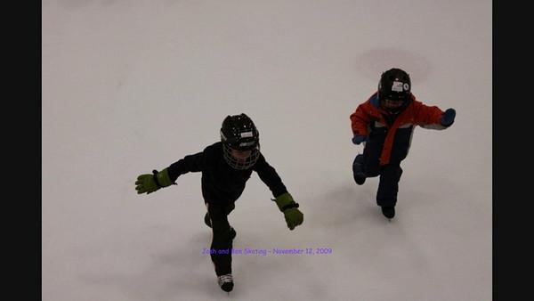 Josh and Ben skating on Nov 12, 2009   Episode 1 of 2   8:30 seconds.