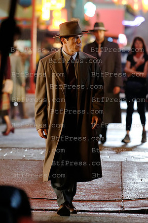 Ryan Gosling during the set of Gangster Squad in Chinatown Los Angeles