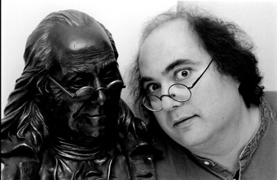 Josh Kornbluth discovers his inner Ben in Ben Franklin: Unplugged. Photo by David M. Allen.
