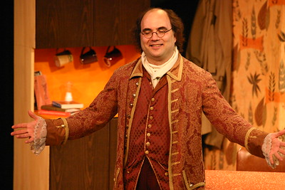 Josh Kornbluth in Ben Franklin: Unplugged - photo by Noah Hopton.