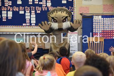 Josh the Otter at Camanche Elementary 5-4-18