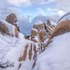 White Tank area snow, Joshua Tree National Park