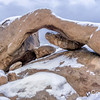 Arch Rock in Snow, Joshua Tree