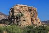 Cyclops Rock, a prime destination for climbers at Joshua Tree.
