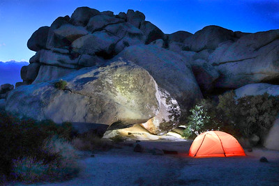 The back of our campsite in Hidden Valley. Joshua Tree N.P.