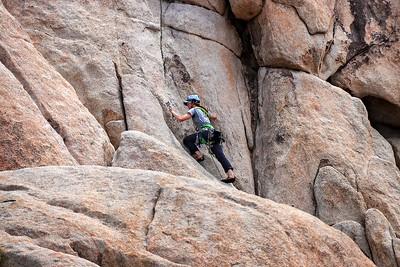 Solo climber .
