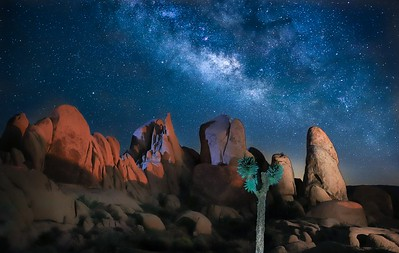 Milky Way over a rock formation in White Tank Campground. First weekend in June, 2019.