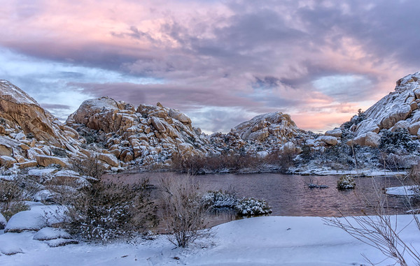 Barker Dam in Snow