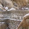 Barker Dam Wall Joshua Tree National Park in Snow