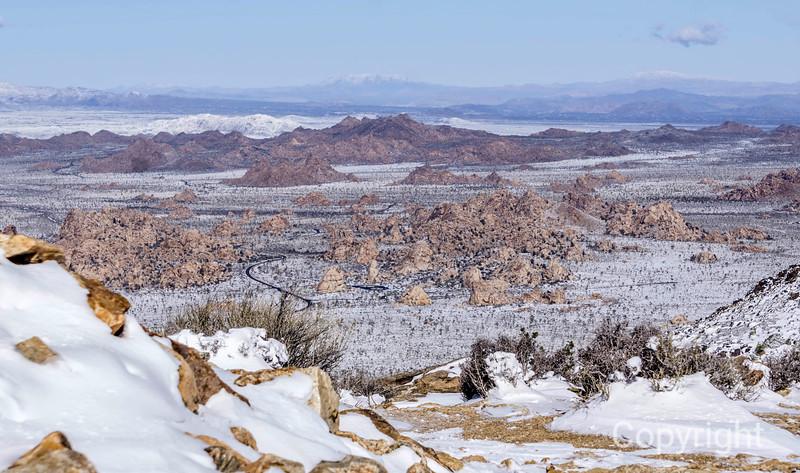 Ryan Mountain Trail in Snowstorm