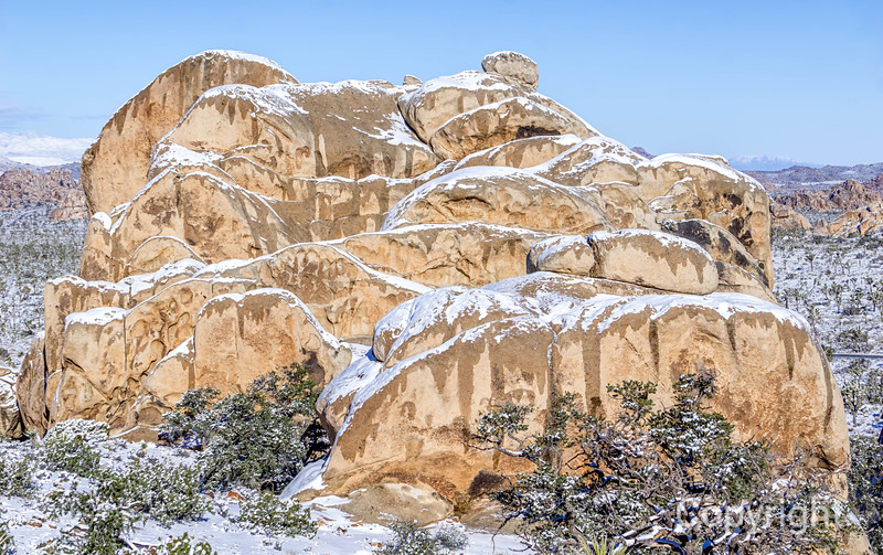 Ryan Mountain in Snowstorm