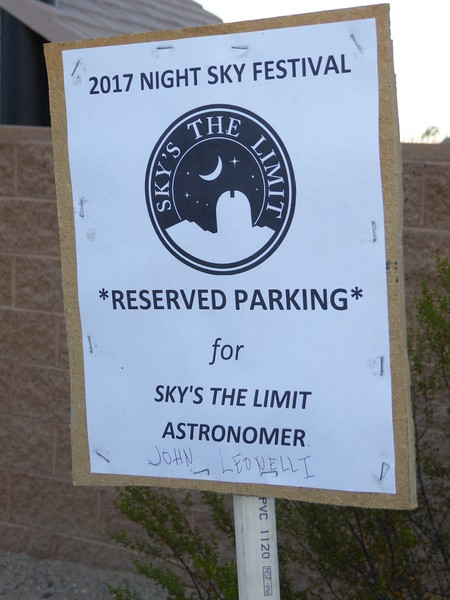 Astronomers were treated to special parking for telescope delivery.