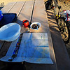 Dinner over a JTree map ... planning his next ride.