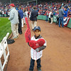 Josmaily Luzon Cruz, 6, was part of a pre-game ceremony held on Sunday afternoon, David Ortiz's regular season game as a member of the Boston Red Sox. Cruz receiving life-saving heart surgery paid for through the David Ortiz Children's Fund in September 2014. Courtesy photo