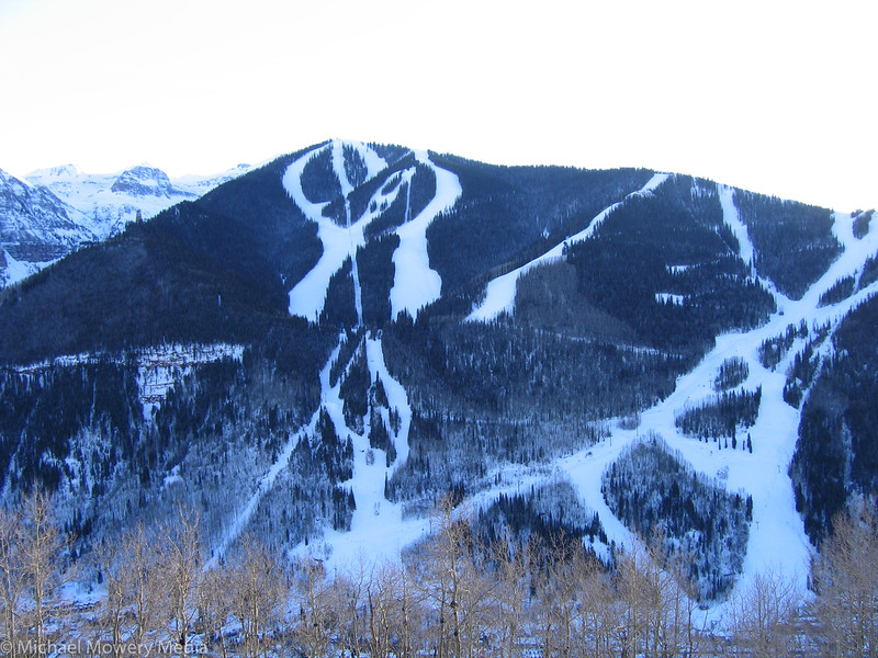 Front Side of Telluride Ski Area seen from Top of Jud Wiebe Trail