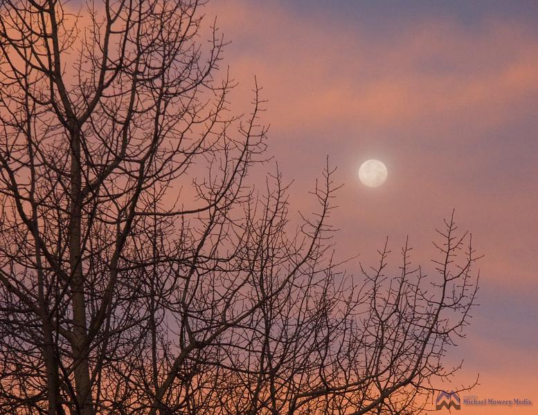 Moonset, Sunrise in Telluride Colorado