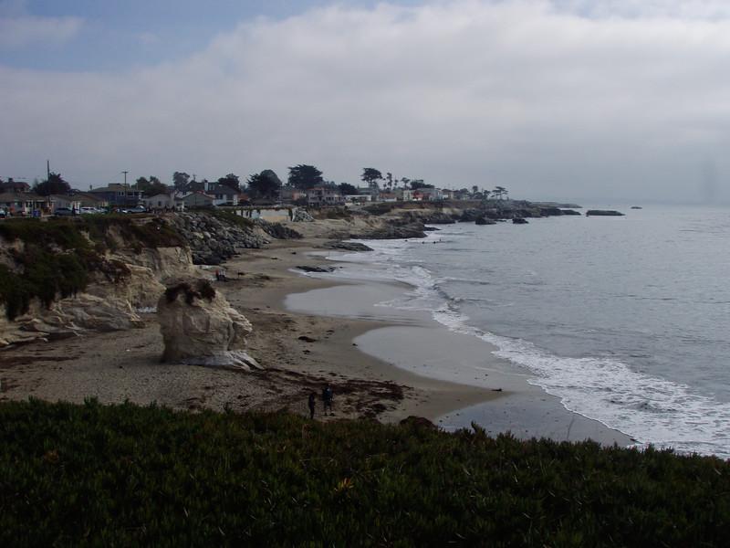 Cliffs along the Santa Cruz beach