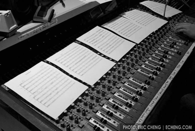 Antebellum arrangement laid out during recording session