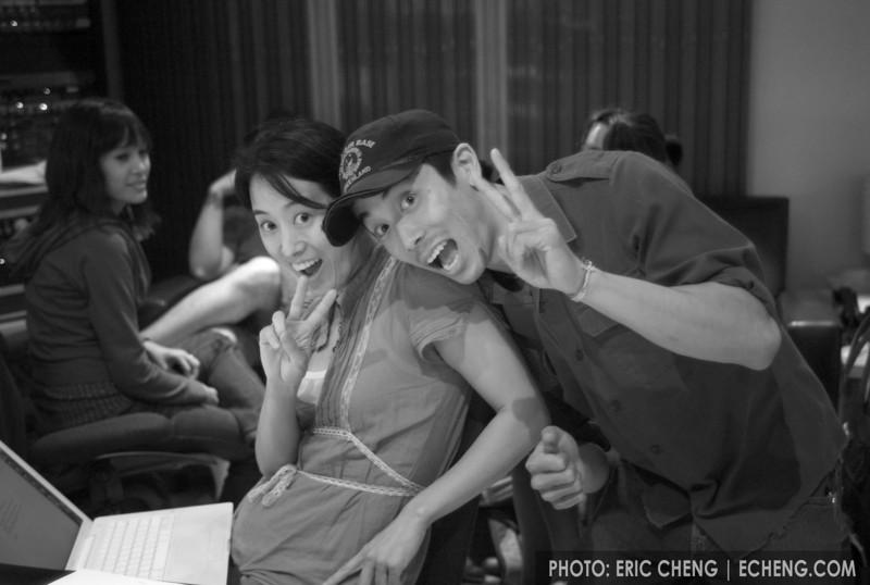 Vienna Teng and Alex Wong hammin' it up