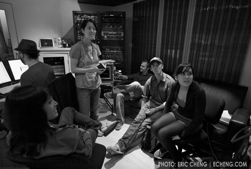 At Dubway Studios in New York, recording for Vienna Teng's fourth album