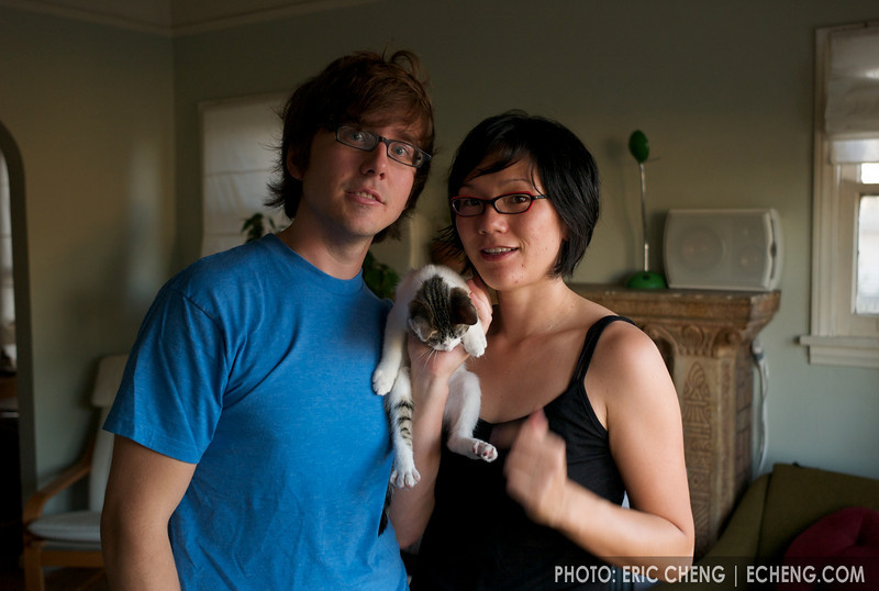 Jake, Wendy and the unnamed kitty